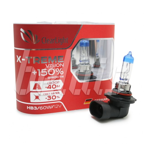 Лампы галогенные «ClearLight» HB3 X-treme Vision +150% (12V-60W)